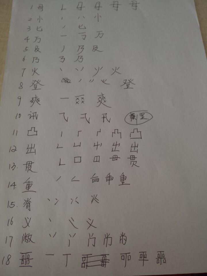三的笔顺笔画顺序-这些汉字笔顺一定不是真的 99 的人不对